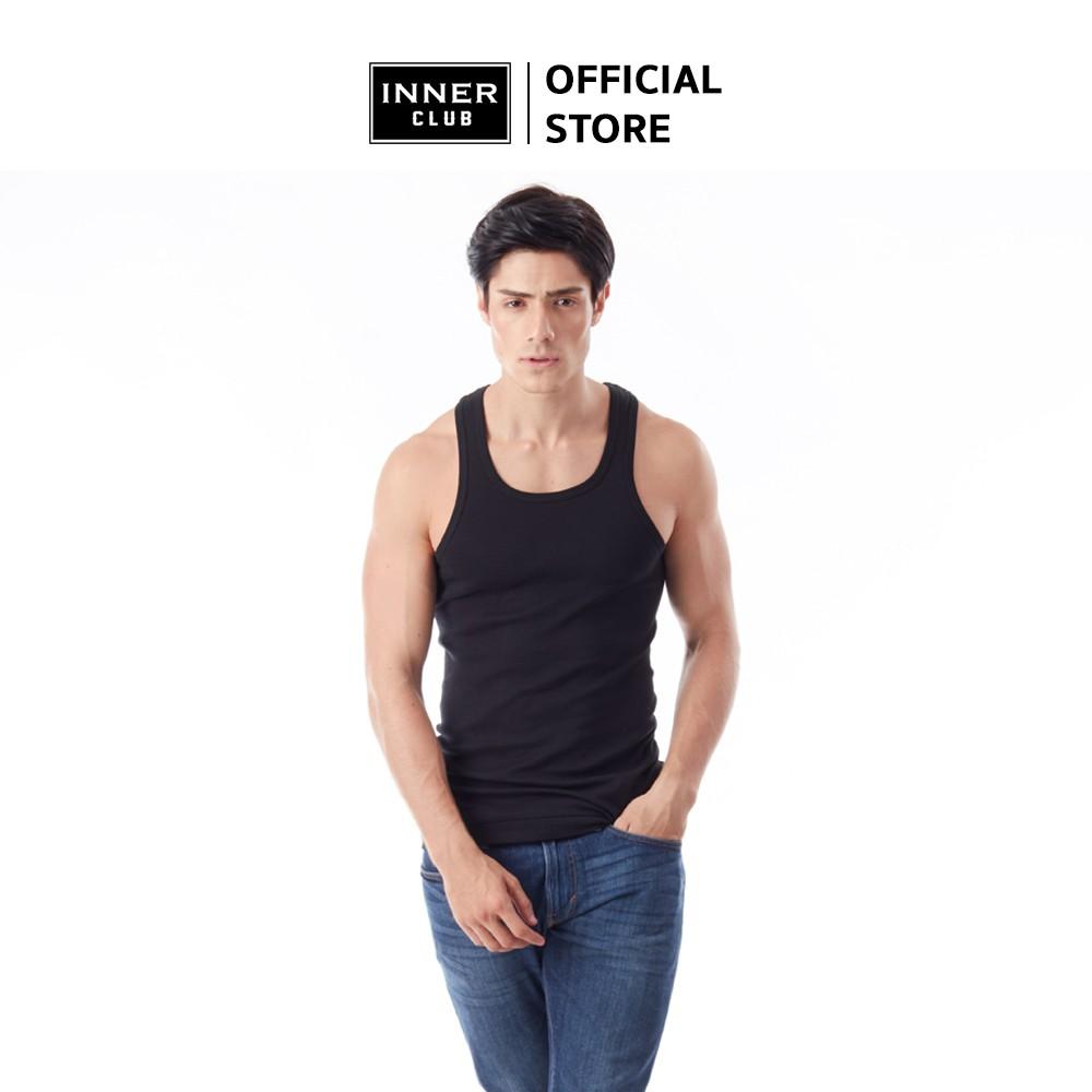 Inner Club เสื้อกล้าม ผู้ชาย สีดำ (แพค 1 ตัว)