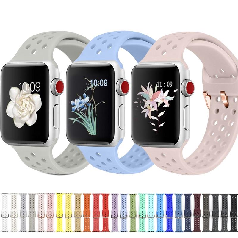 【Apple Watch Strap】สายคล้องซิลิโคนกันน้ำสำหรับ Apple Watch Series  6 se 5 4 3 2 1 38 มม. 40 มม. 42 มม.