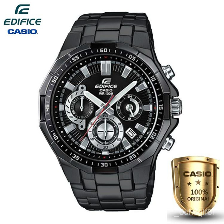 Casio Edifice นาฬิกาข้อมือผู้ชาย สีดำ สายสแตนเลส รุ่น EFR-554BK-1AV (ของแท้100%)