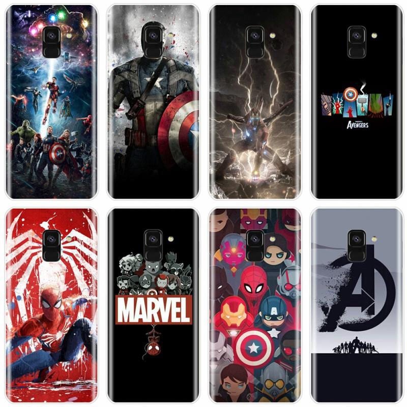 Marvel Avengers Heros Phone Case For Samsung Galaxy A9 A9PRO A7 A8 Plus 2018 A3 A5 A7 2017 A3 A5 A6 2016 Cover