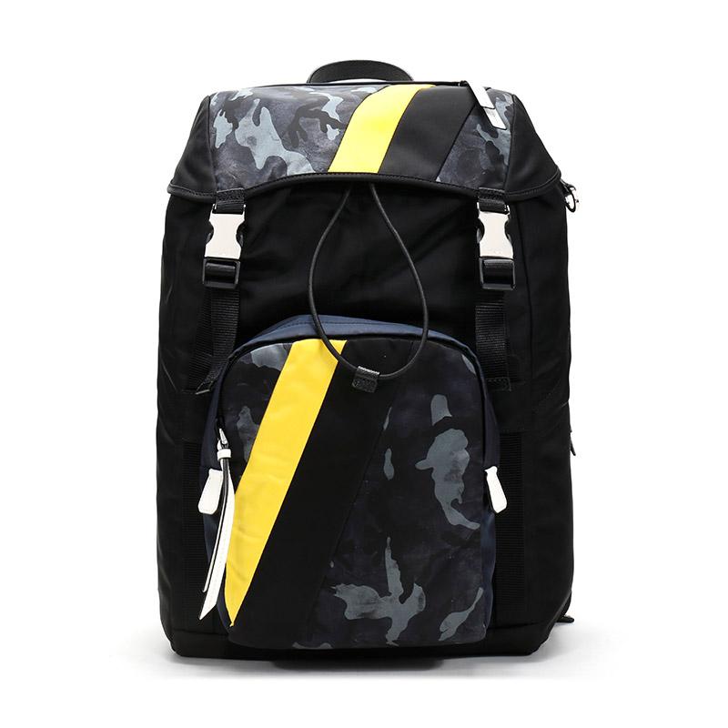 [โดยตรง] Prada Pradaกระเป๋าเป้สะพายหลังผ้าผู้ชายกระเป๋าเดินทาง2VZ135 2acn