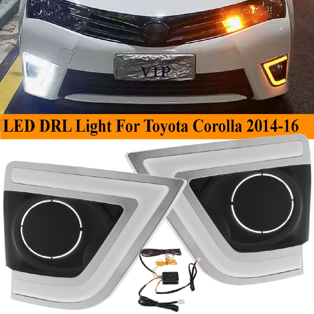 LED Fog DRL Daytime Running Light 6000k White For Toyota Corolla 2011 2012 2013