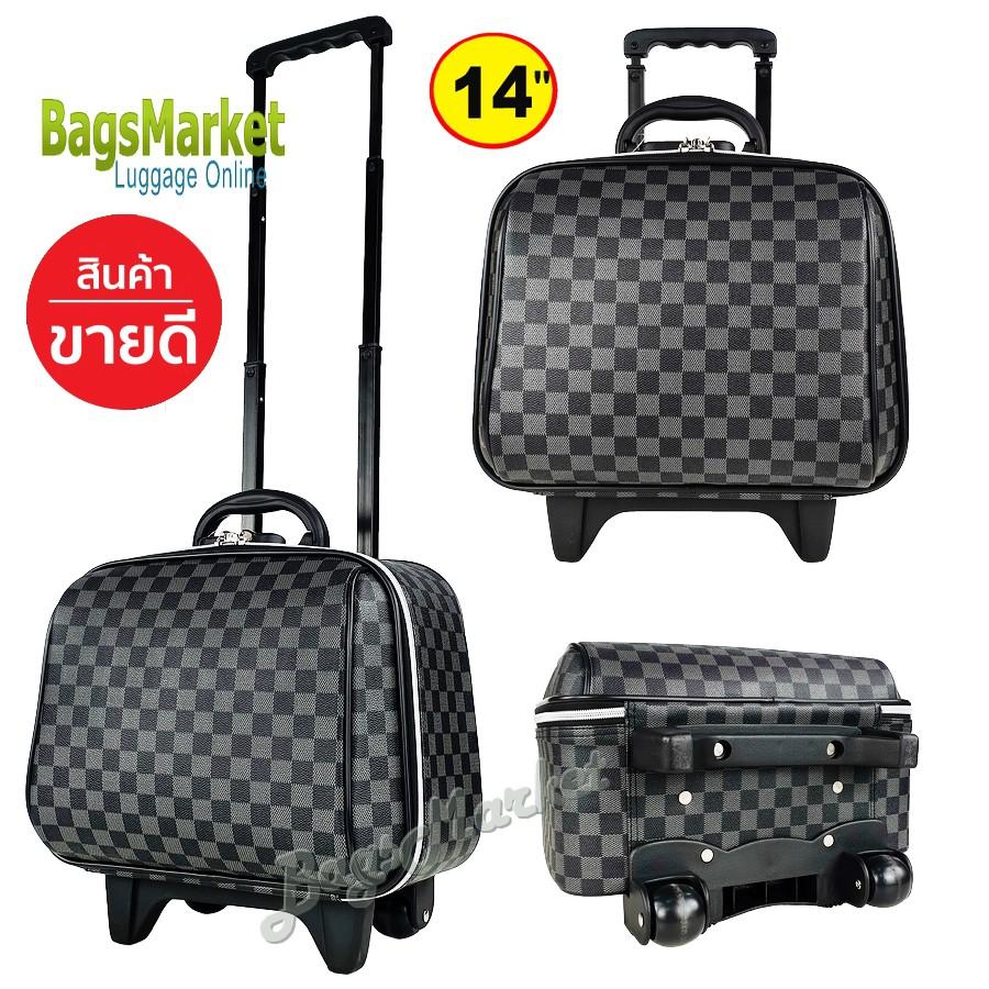 ilu❉◐﹍Sun POLO กระเป๋าเดินทางล้อลาก 14 นิ้ว L-Pattern Grey Classic Code FLB14-G