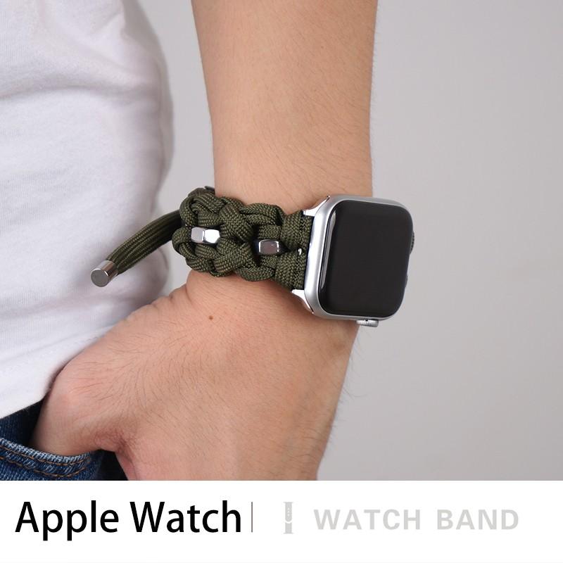 สายนาฬิกาเชือกไนล่อนถักสําหรับ apple watch