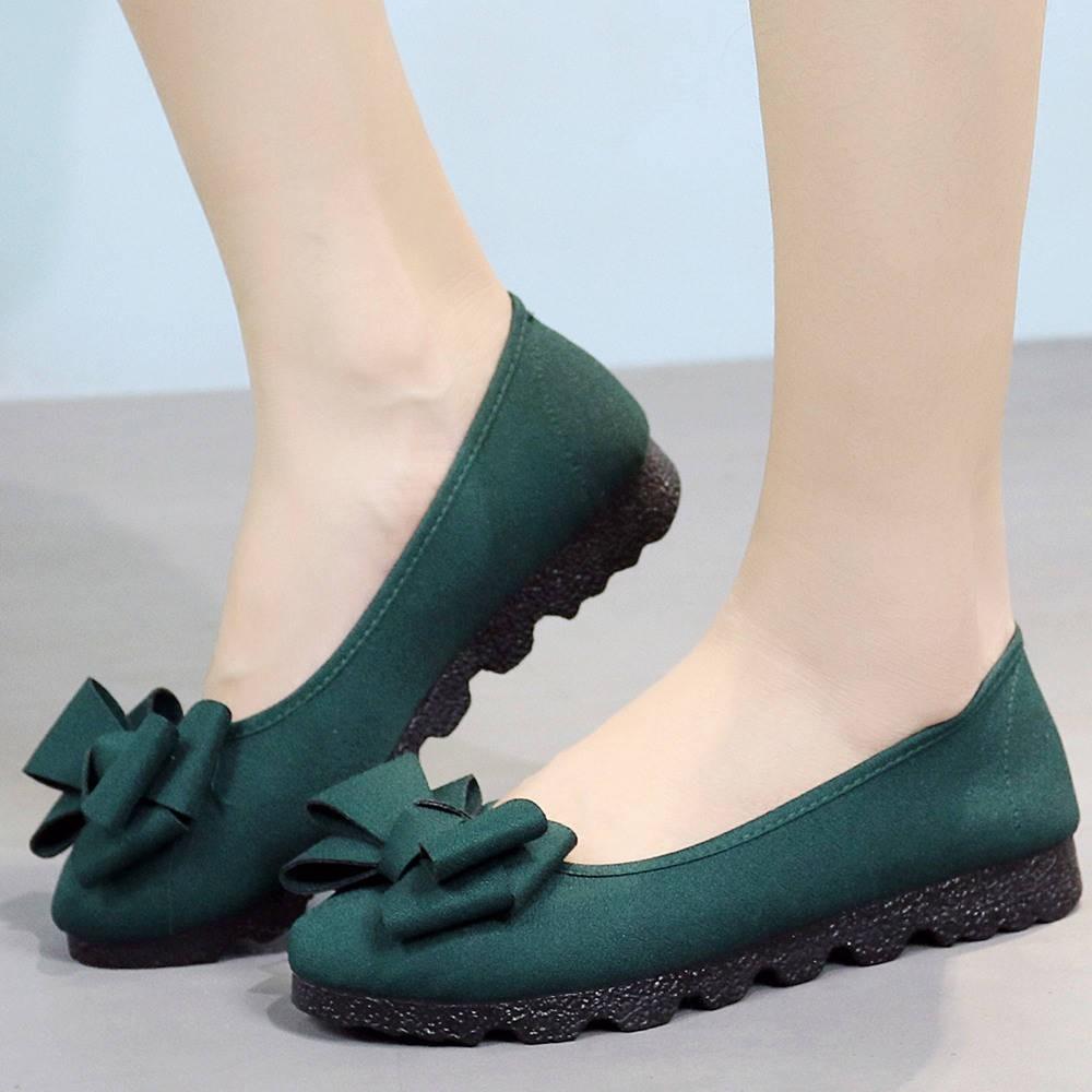 รองเท้าผู้หญิง รองเท้าคัชชู ร้องเท้า ✧Old Beijing ผ้ารองเท้ารองเท้าผู้หญิงรองเท้าเดียวสีดำรองเท้าทำงาน Peas รองเท้าฤดูใบ