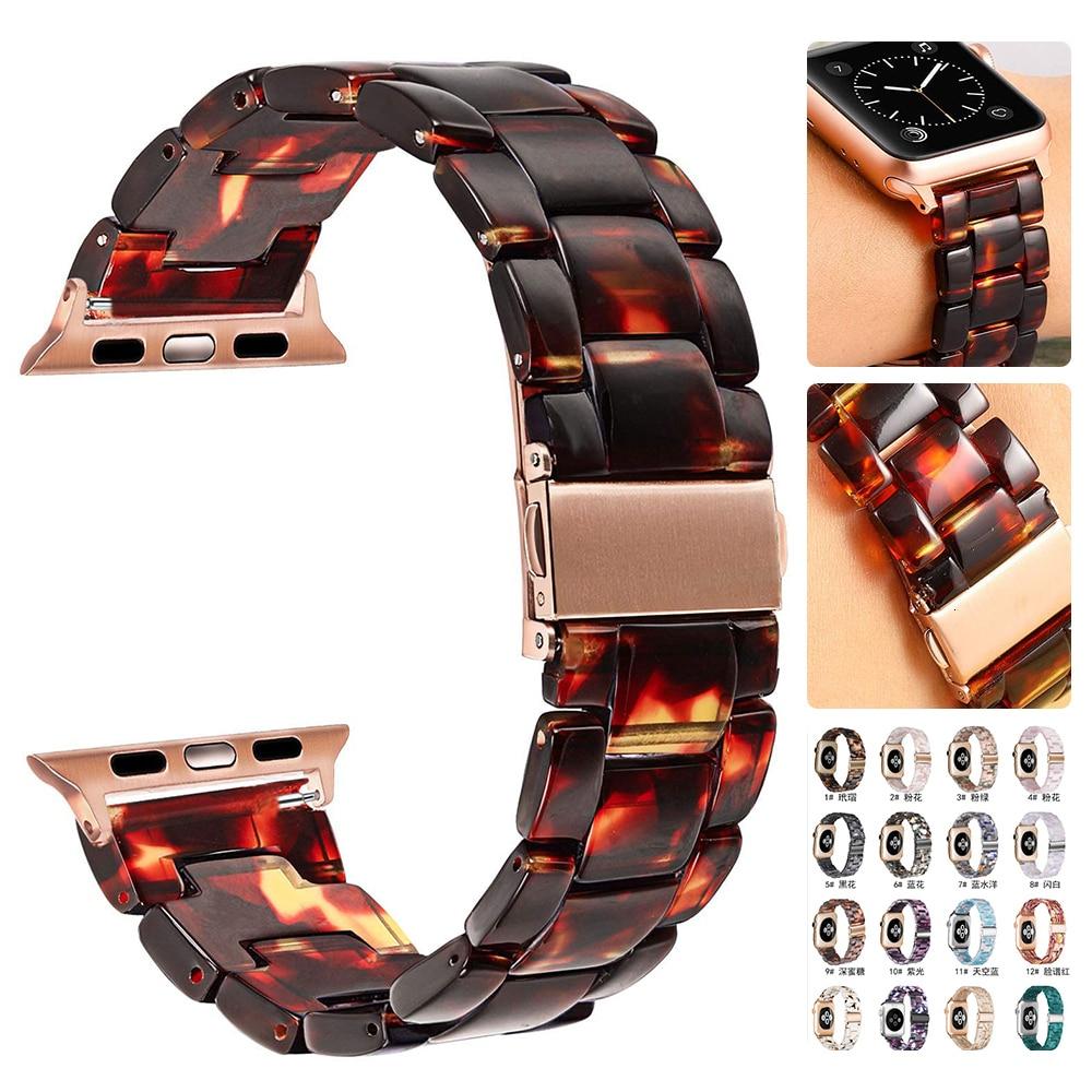 Please COD Resin strap For Apple Watch 44mm band iwatch Series 5 4 3 2 1 Wrist watch Accessories 42mm loop 38mm bracelet