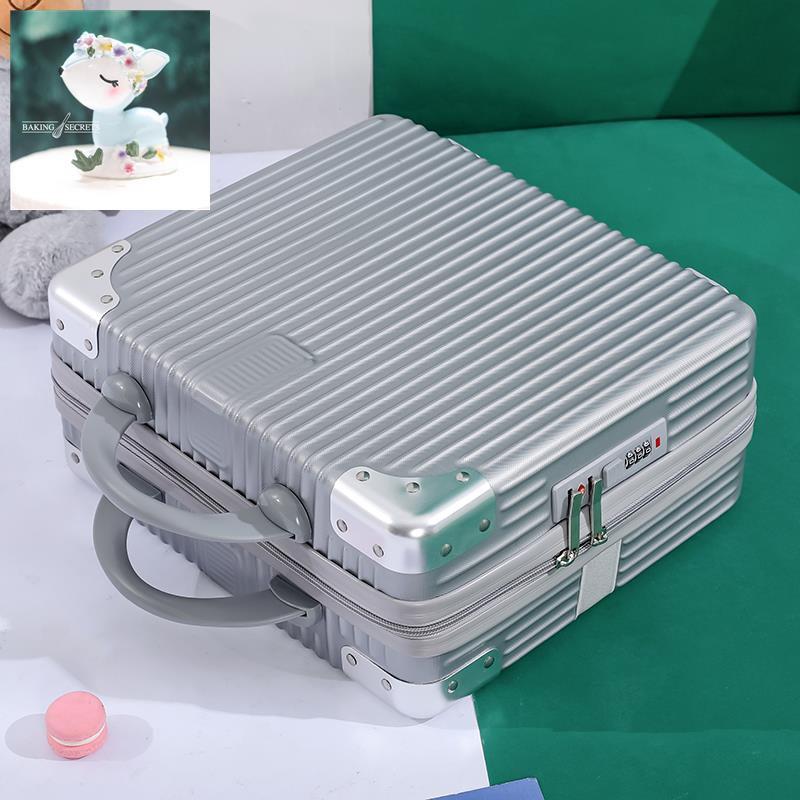กระเป๋าเครื่องสำอางกระเป๋าหญิง 14 นิ้วขนาดเล็กน้ำหนักเบา 16 นิ้วรหัสผ่านกระเป๋าเดินทางสาวหัวใจกล่องเก็บมินิ