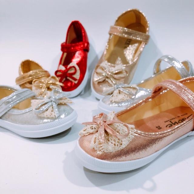 รองเท้าเด็กคัชชูโบว์ลูกไม้ ไซส์15-25