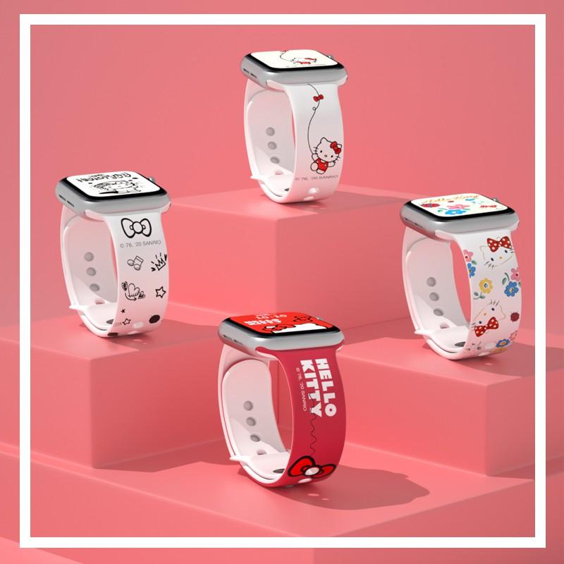 applewatch6 เข็มขัด☑✴┋สายนาฬิกา Apple hellokitty ของแท้อย่างเป็นทางการ iwatch4 / 5 6 se Hello Kitty สายรัด applewatch