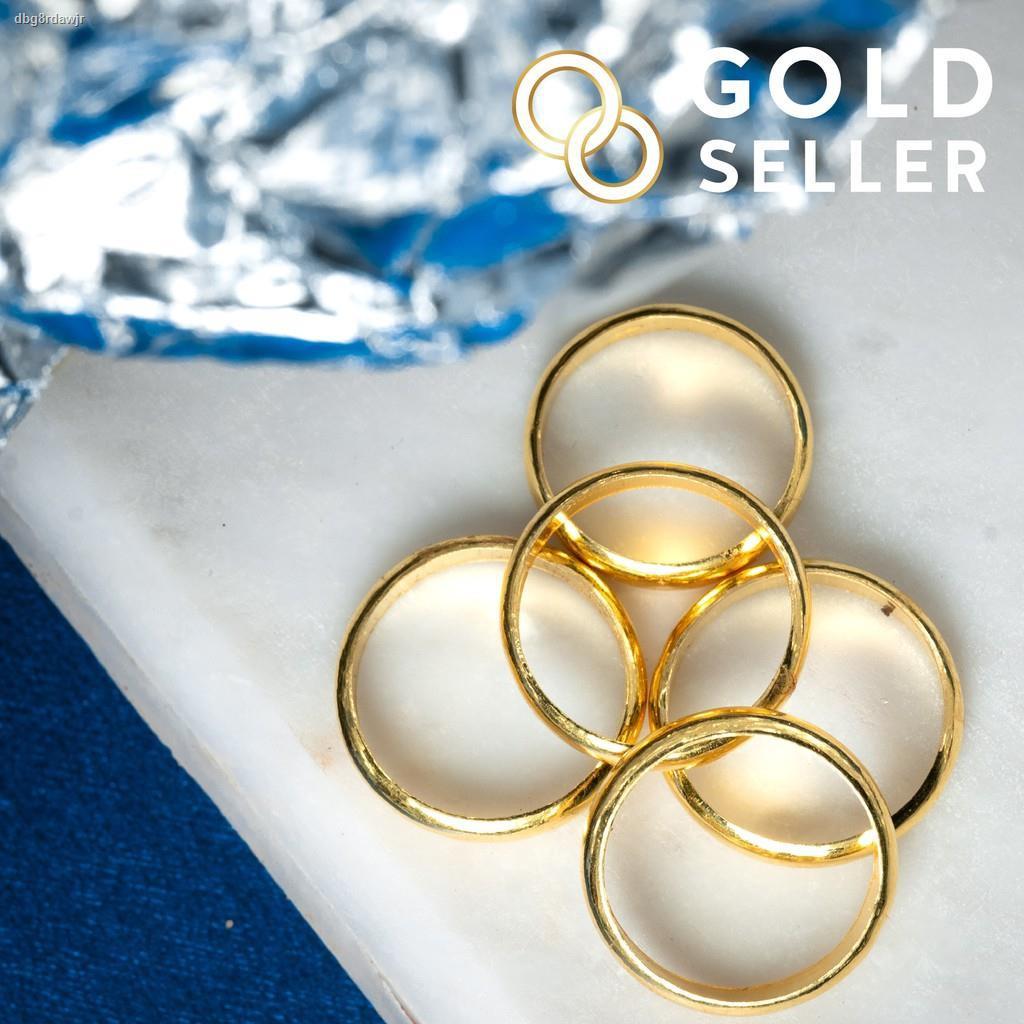ราคาต่ำสุด✻Goldseller แหวนทอง ลายเกลี้ยง ครึ่งสลึง ทองคำแท้ 96.5%