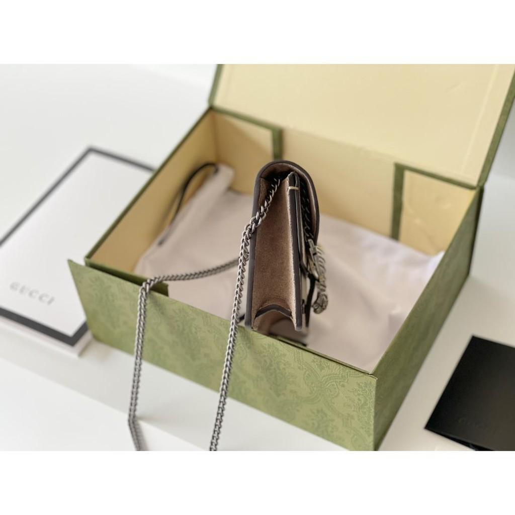 2021 Gucci handbags new Dionysus tiger head buckle printing Dionysus bag chain shoulder messenger bag