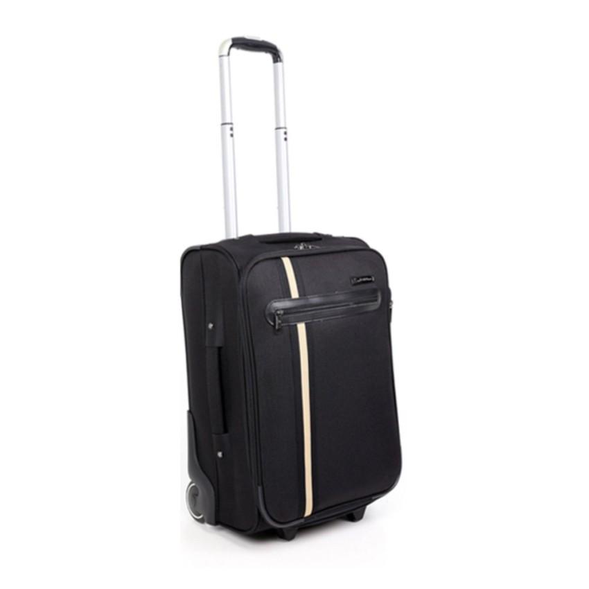 Augustoกระเป๋าเดินทางคันชัก ขนาด24นิ้ว สีดำ