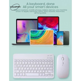 【Lollipopc Free Shipping】 Skatolly【In Stock】New Portable Chargable Universal Ultra-thin Bluetooth Keyboard Wireless