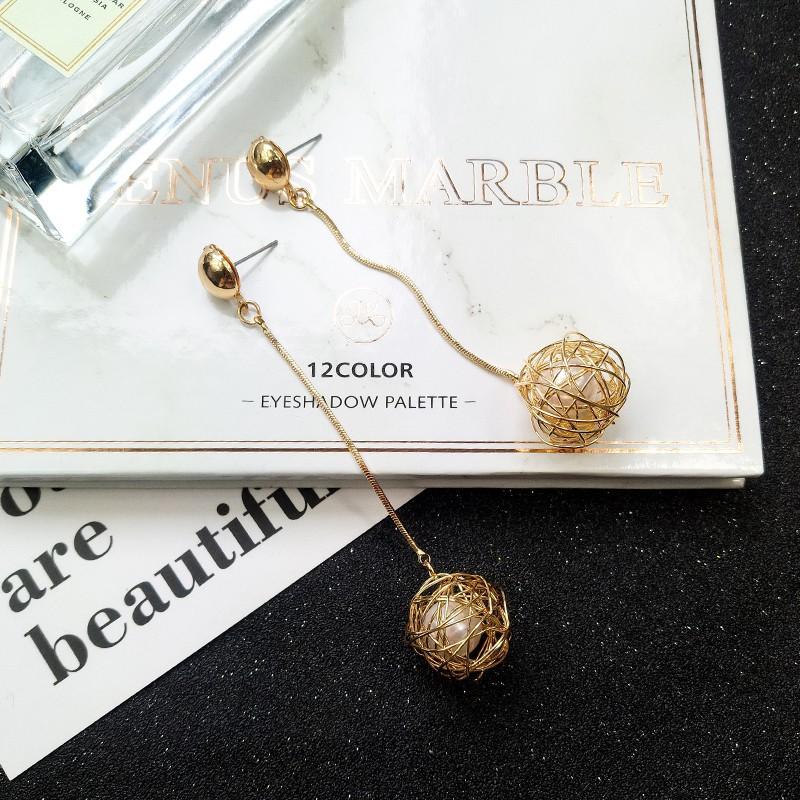 Korean earings Womens Hollow White Gold Filled Rhinestone Square Stud Earrings