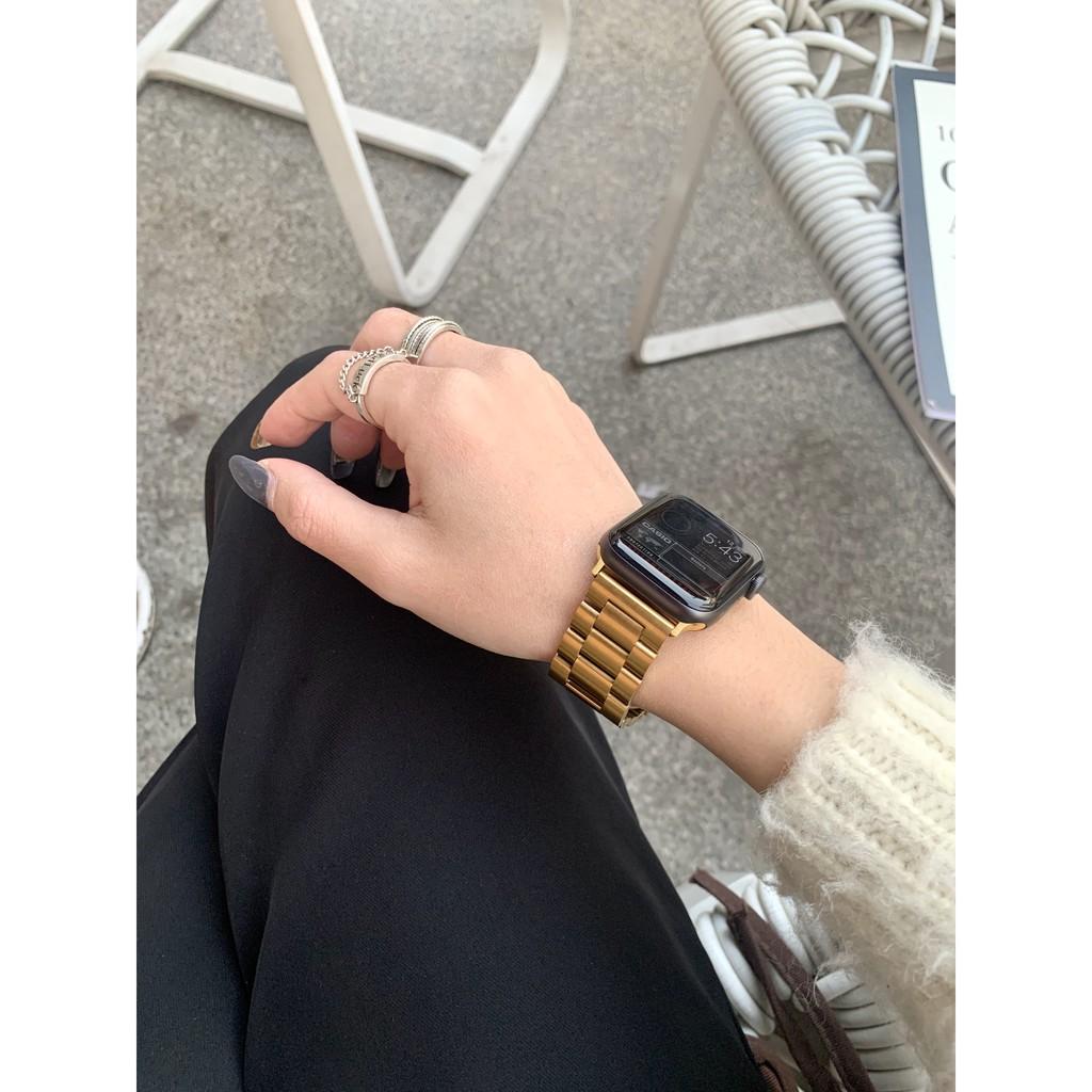 เคสนาฬิกา applewatchบังคับApplewatchนาฬิกาหรูหราiwatchสแตนเลสสตีลสตีล CHAIN123456S ชายและหญิงapplewatch