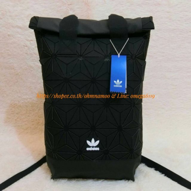 Adidas Originals BP Roll Top 3D Mesh 2017 Black Backpack Bag DH0100