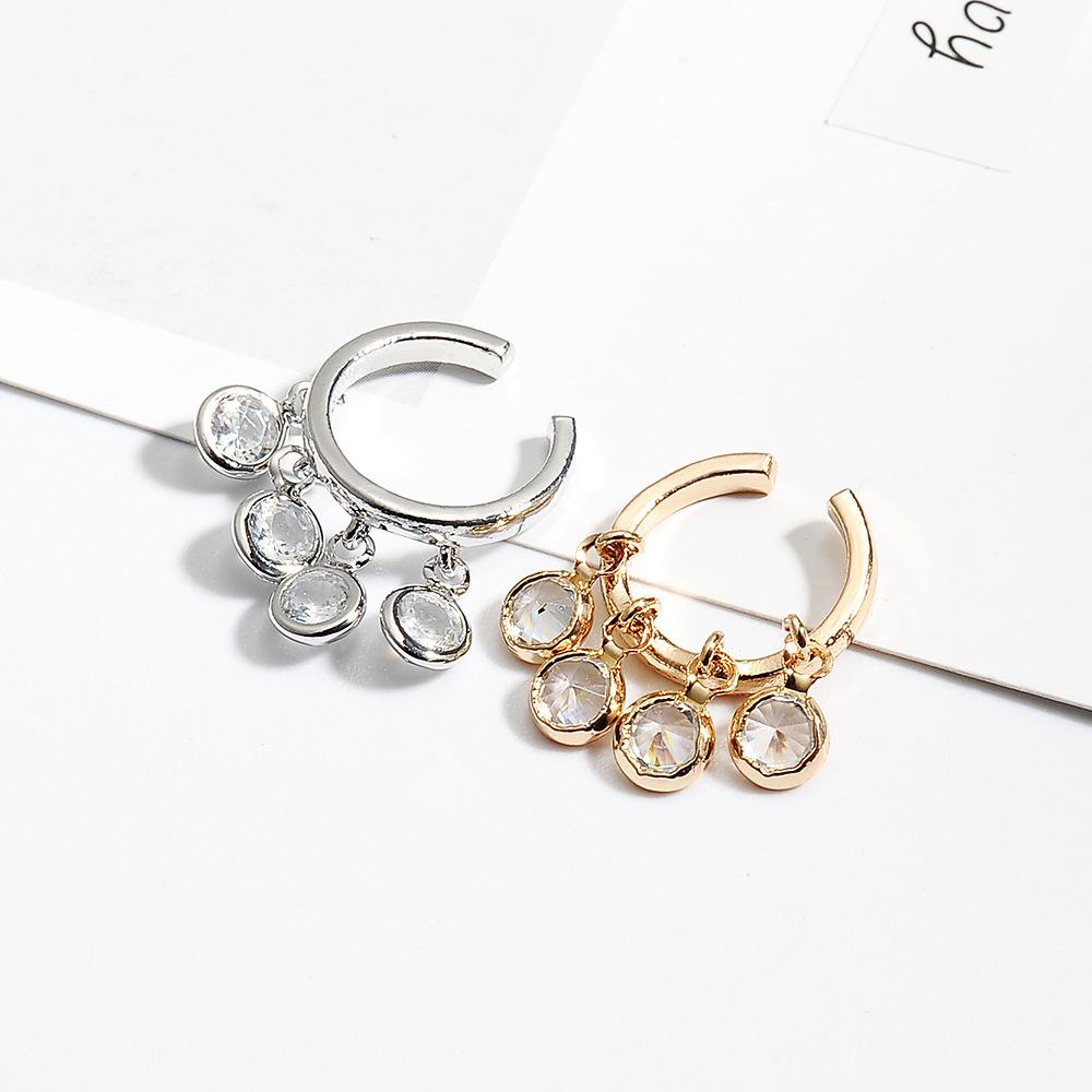 ใหม่ต่างหูคริสตัลพู่หวานสำหรับอารมณ์ของผู้หญิงแหวนอินฟินิตี้แหวนพระแหวนทอง1สลึง