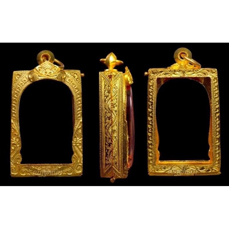 >>ตลับเงินชุปเศษทองคำ96.5% สำหรับใส่พระสมเด็จ