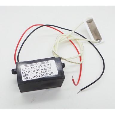 เครื่องผลิตโอโซน แผ่นเพลทเซรามิคผลิตโอโซนบริสุทธิ์ YC0200-D-13D12C Ceramic Plate Ozone Generator 200mg/h DC12v