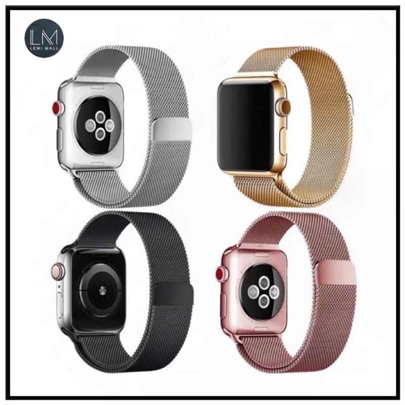 สายเปลี่ยนนาฬิกาข้อมือ Apple Watch Band Milanese Loop Series 1 2 3 4 5 6 44 มม 40 มม 38 มม 42 มม สาย applewatch 6 s