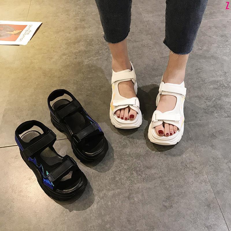 cro ด้านล่างหนาเปิดนิ้วเท้ารองเท้าโรมันป่า