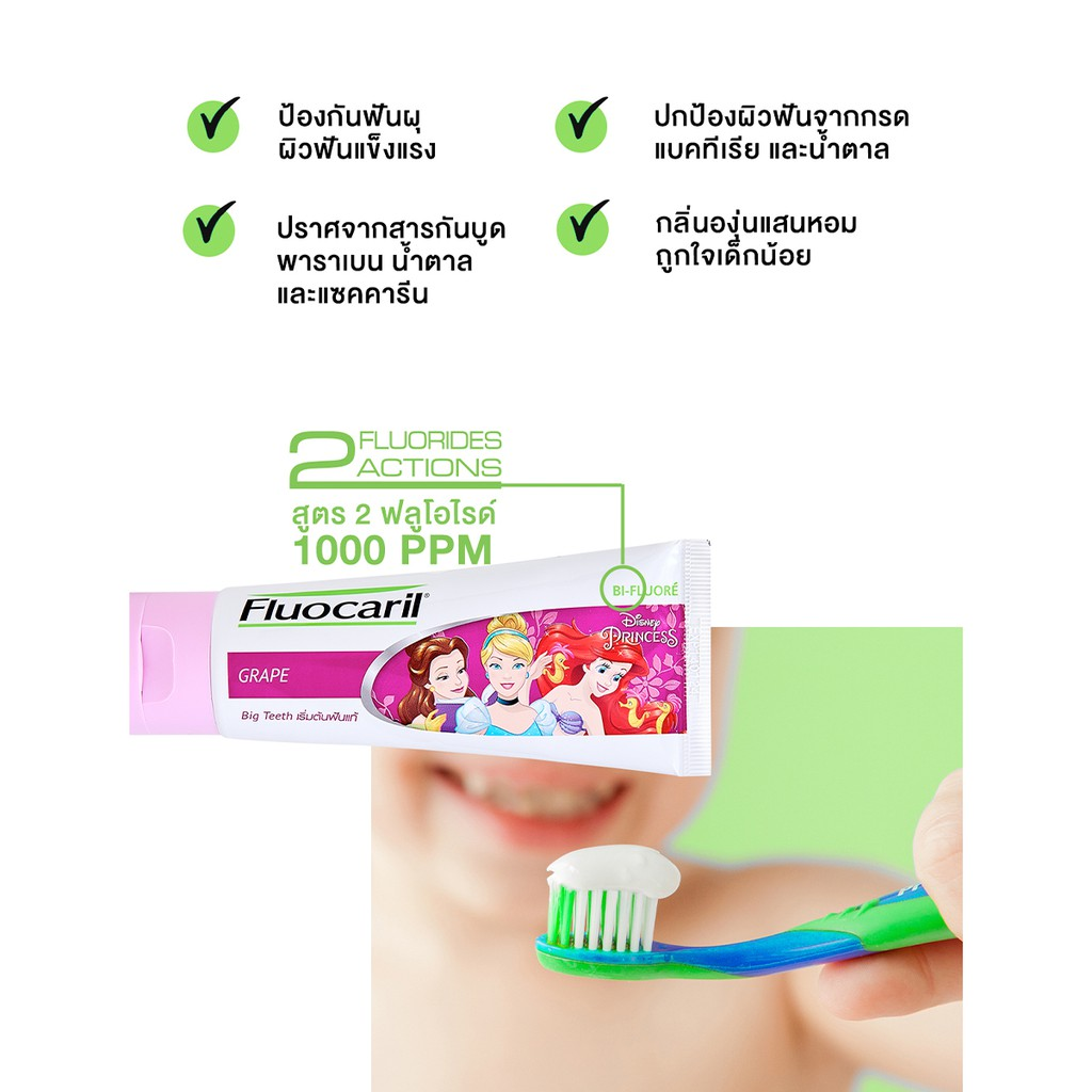ฟลูโอคารีล คิดส์ ชุดแปรงฟัน+ยาสีฟัน สำหรับเด็ก รุ่นฟันน้ำนม