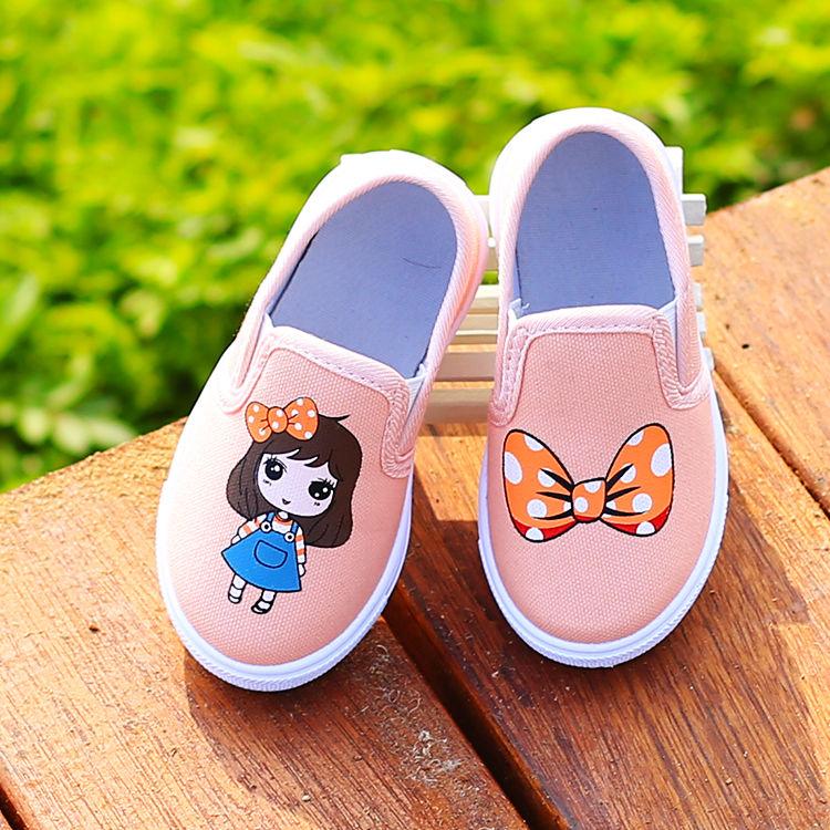 เสื้อผ้าเด็กรองเท้าเด็ก ฤดูใบไม้ผลิและฤดูใบไม้ร่วงรองเท้าลำลอง รองเท้าผ้าใบ เจ้าหญิงรองเท้า รองเท้าคัชชูส้นเตี้ย รองเท้า