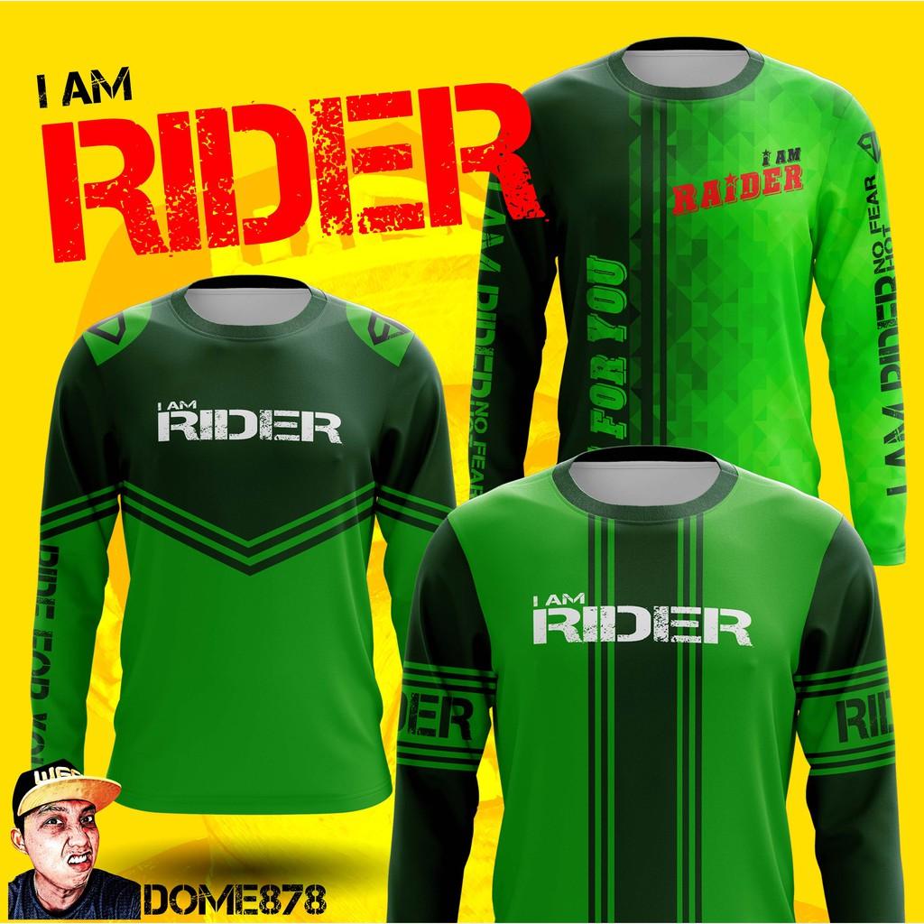 Grab it now  rider t shirt. เสื้อสีเขียว เสื้อแจ็คแก็ต เสื้อขี่มอไซด์ เสื้อRIDER เสื้อแก็งค์ I AM RIDER by DOME878