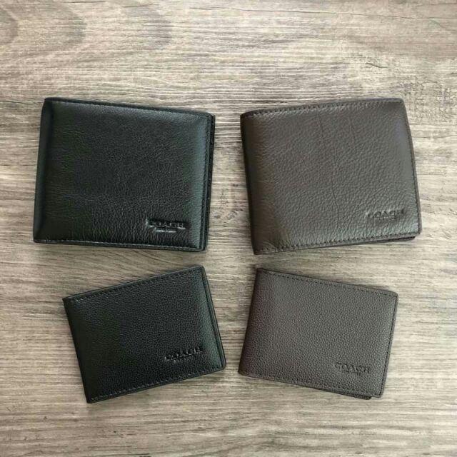 COACH กระเป๋าสตางค์ใบสั้น มาพร้อมกระเป๋าใส่บัตรใบเล็กอีก 1