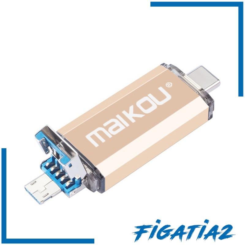 [Figatia2] แฟลชไดรฟ์ Usb 3.0 Type-C & Micro Usb 32 กรัมสีทอง