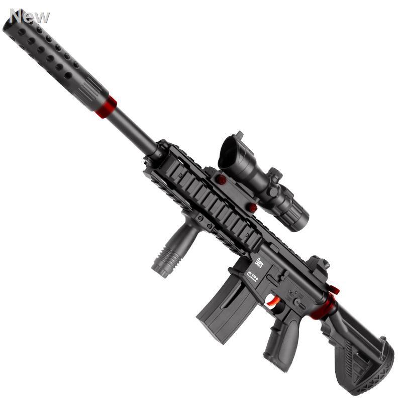 ◄✒✣ของเล่นเด็กไก่อุปกรณ์ครบเครื่อง peace M416 simulator awm ปืนสไนเปอร์ 98k water drop boy bomb gun