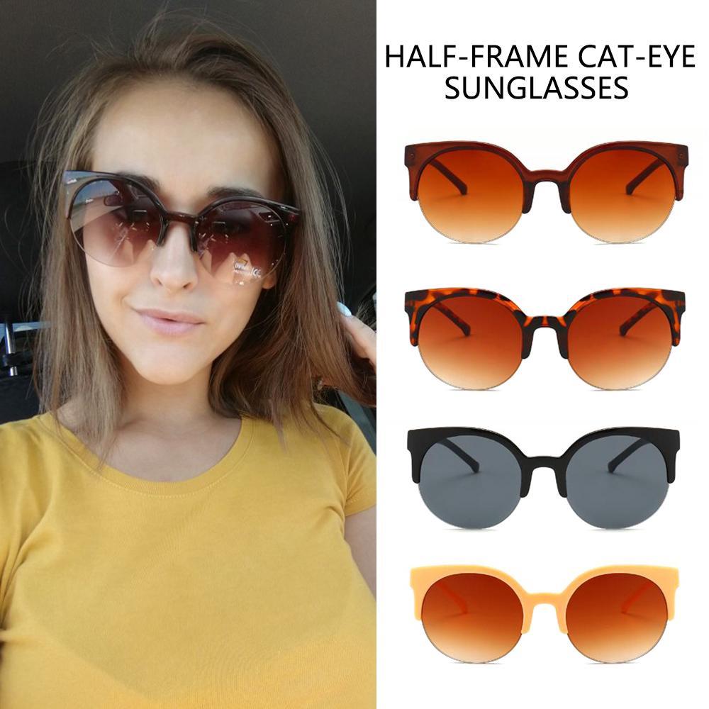 ee18207c030d woman fashion Cat Eye Retro Vintage Round Sunglasses Glasses Eyewear UV400    Shopee Thailand