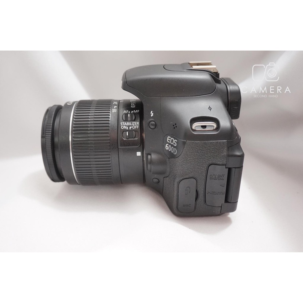 Canon 600D + Canon Lens 18-55 mm 1:3 5-5 6 IS II | Shopee