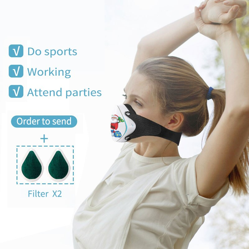 Smart Electric Face protection mask Air Cleaner Pollution Dust Air Purifier Creative Christmas gifts for relatives frien