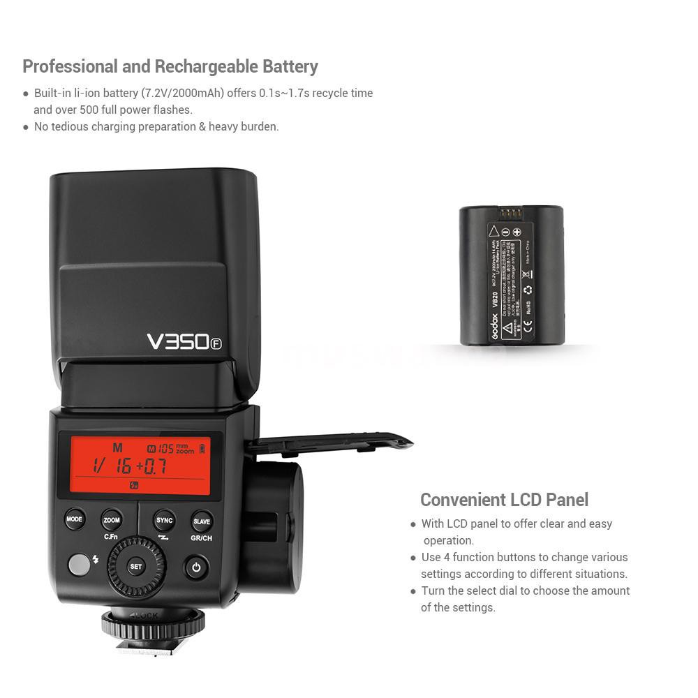 ghdonat.com Electronics Flashes Godox V350F TTL 2.4G GN36 HSS 1 ...