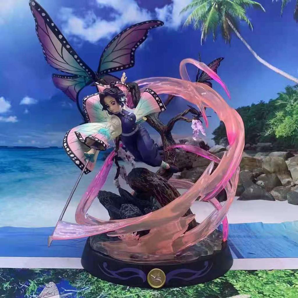 36cm Demon Slayer GK Demon Transformation Kamado Nezuko Kochou Shinobu GK Anime Action Figure Model Statue Collection To