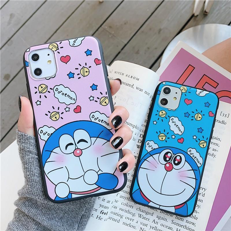เคส Samsung A12 M11 A11 M31 M30s A6 A7 A8 A8+ A9 2018 M20 S20 Ultra S20+ S10 S10e S10+ S9 S9+ S8 S8+ Plus Pro Shy Loving Doraemon Soft TPU Case Cover / HXD