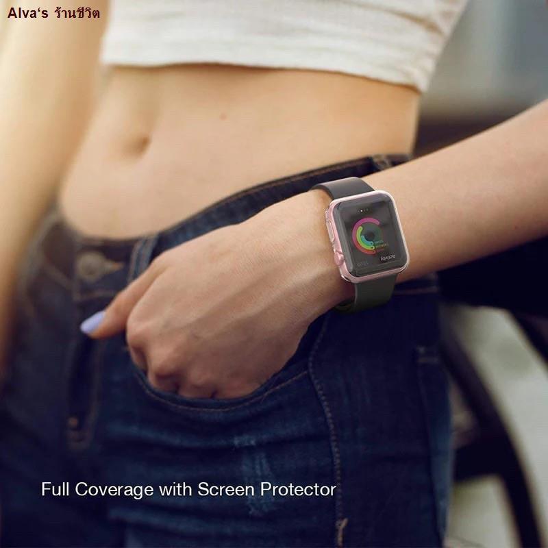 Alva's ร้านขายอุปกรณ์โทรศัพท์ม♙เคส สำหรับ AppleWatch ขนาด 38 มม. 40 42 44 ซิลิโคนอ่อนนุ่มหุ้มใสสำหรับ iWatchSeries 6/5/4