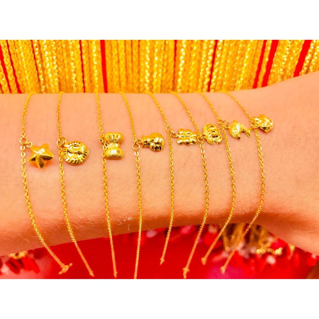 ข้อมือทองคำแท้ นำ้หนัก 1 กรัม  คละลาย ทองคำแท้ 96.5% มีใบรับประกันสินค้า น้ำหนักเต็ม ราคาโดนใจ