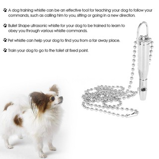 New Pet Dog Ultrasonic Whistle Dog Training Bullet Shape Whistle with  Keychain for Dog Pet Clicker Silent Dogs Bark Cont