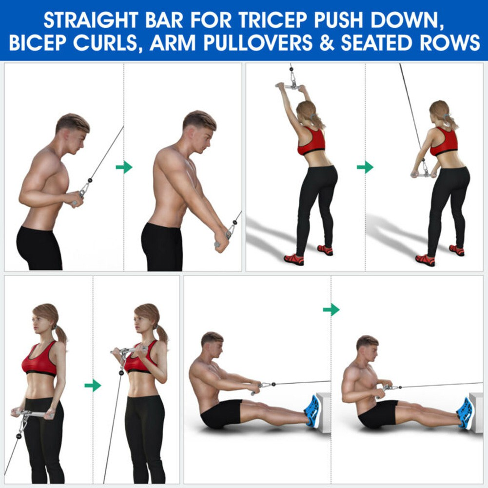 Training Pulling Bar Device Attachments Sport Accessories Pull Down New