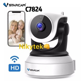 Vstarcam กล้องวงจรปิด IP Camera รุ่น C7824 1.0 Mp and IR Cut WIP HDONVIF (สีขาว/ดำ)