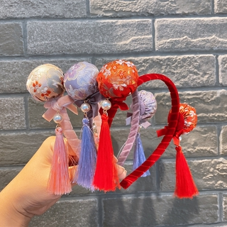 ที่คาดผมเด็ก kids hair accessory Chinese New Year traditional headband tassel hair band 212KA402