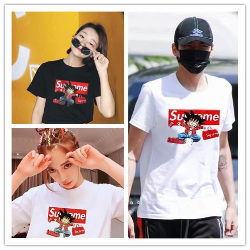 แฟชั่นใหม่ของแท้Supreme 18SS TeeYoukong Wu Yifan วรรคเดียวกันชายและหญิงรุ่นคู่Tเสื้อแขนสั้น
