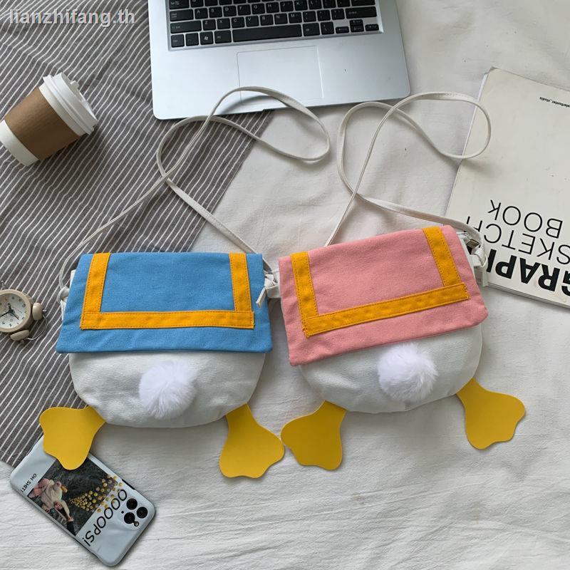 กระเป๋า rfidanello กระเป๋าสะพายข้างcoach ผู้หญิงกระเป๋า sanriobag วินเทจ♕✆Cute small bag 2020 new fashion ins Japanese girl one-shoulder messenger student all-match cartoon canvas