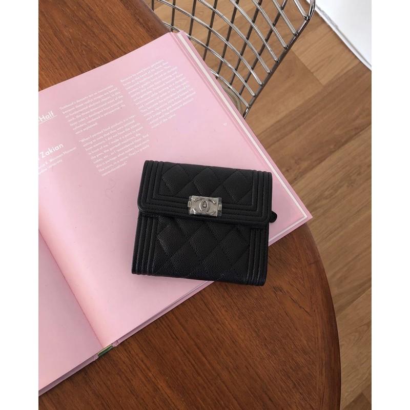 Chanel boy logo wallet พร้อมส่ง