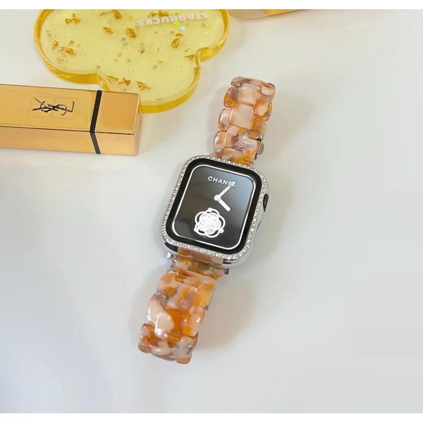 สายนาฬิกา Apple Watch Resin Straps เรซิน สาย Applewatch Series 6 5 4 3 Apple Watch SE Stainless Steel สายนาฬิกาข้อมือ fo