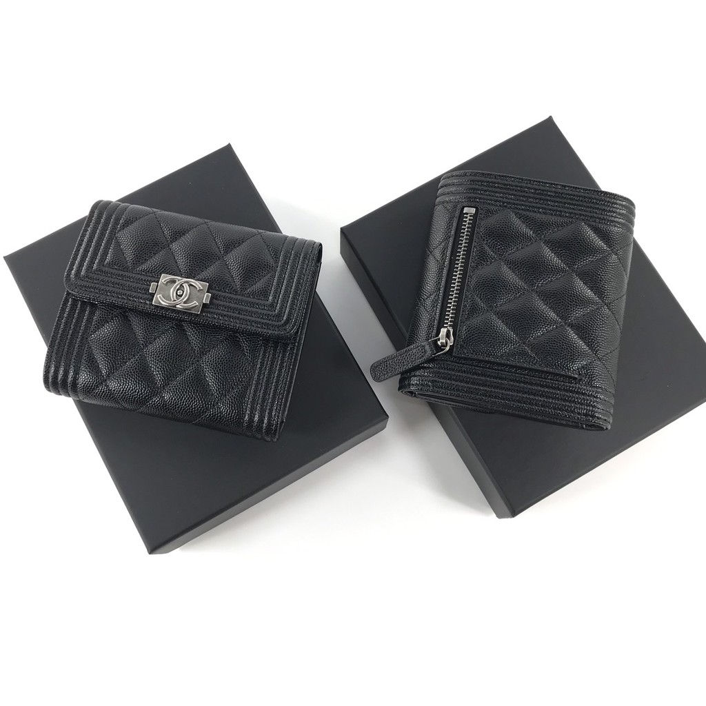 New Chanel boy trifold wallet compact rhw holo 299 #smiley1407