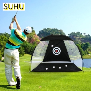 SUHU 2M Durable Golf Driving Cage Polyester Training Mesh Golf Practice Net Oxford Cloth Indoor Outdoor Foldable High Quality Sports Equipment