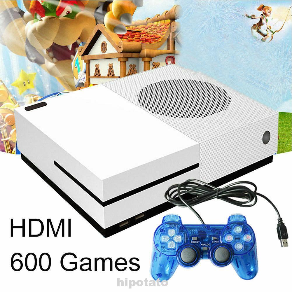 เครื่องเล่นเกม 32 bit 4gb hd - hdmi tv games built - in 600 2 controller
